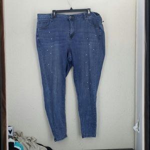 Lane Bryant mid rise super stretch skinny jeans 20